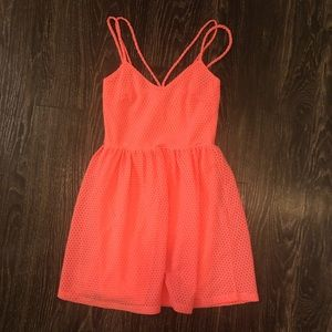 Dainty hooligans coral cocktail dress